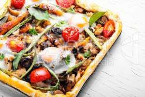 Open vegetable pie