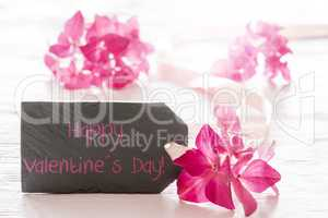 Hydrangea Blossom, English Text Happy Valentines Day
