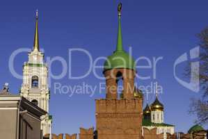 Tula, the Kremlin, RUSSIA. Tower Odoevsky gate or tower of the Kazan Kremlin