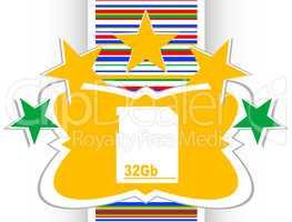 flash memory card internet web button (icon)