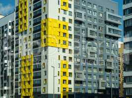 New residential complex. Modern architecture, bright colorful facades and convenient infrastructure. Moscow, Russia