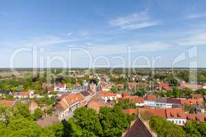 Landscape view from a church tower in Burg / Germany.