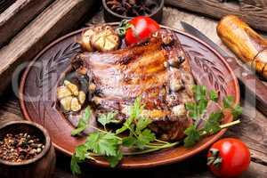 Tasty roasted ribs