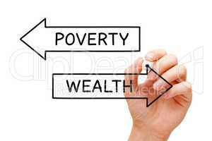 Wealth Or Poverty Arrows Concept