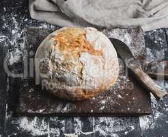 whole baked round white wheat bread