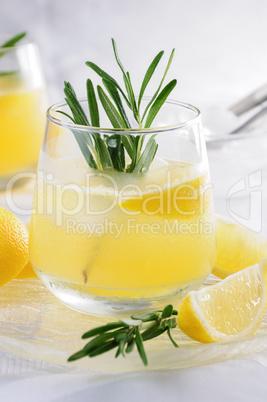 Vodka with tonic and lemon juice