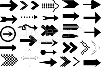 Set of different arrows