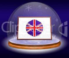 Snow globe with Union Jack