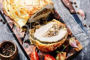 Homemade meat Wellington
