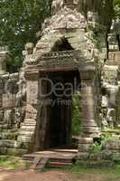 Entrance to Banteay Kdei temple in forest