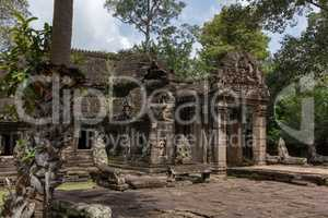 Entrance to Banteay Kdei temple in trees