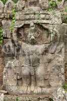 Garuda bas-relief on Preah Khan temple wall