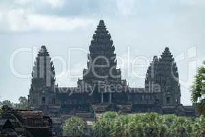 Main three towers of Angkor Wat temple