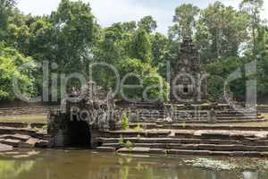 Stone monuments in ponds at Neak Pean