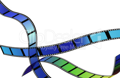 Film for photo or video record strip frame. Movie background vector illustration