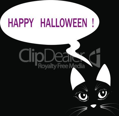 Cat head halloween animal vector illuatration