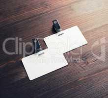 Blank badges mockup