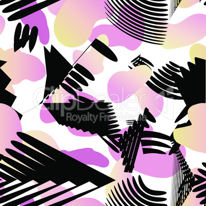 Abstract artistic seamless pattern. Trendy paint abstract seamless pattern. Art background for brochure, poster, flyer, presentation design.