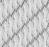 Wavy line dot seamless pattern. Floral texture. Abstract background
