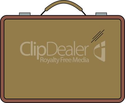 One brown briefcase