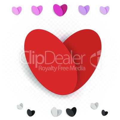 love heart decoration set