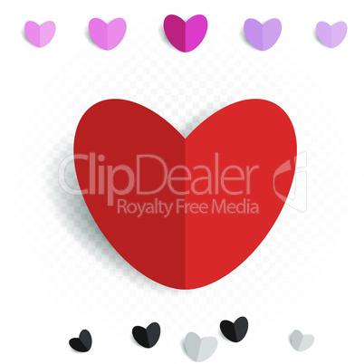 paper love heart decoration set