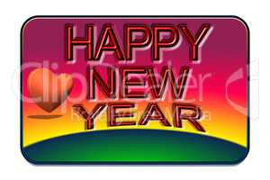 Card with caption Happy New Year