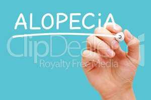 Alopecia Hair Loss Or Baldness Concept