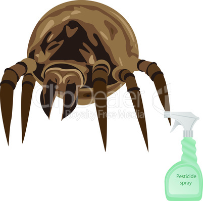 Mites pesticide spray