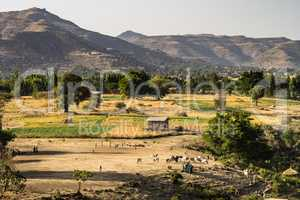 Landscape view near the Blue Nile falls, Tis-Isat, Ethiopia, Eastern Africa