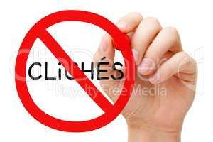 Avoid Cliches Prohibition Sign Concept