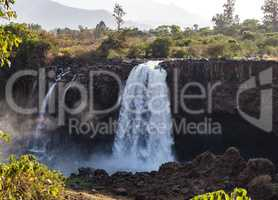 Landscape view near Blue Nile falls, Tis-Isat Falls in Amara region of Ethiopia