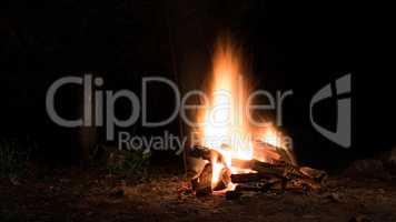 Campfire in the dark