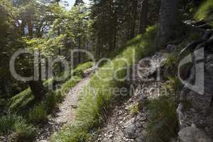 Mountain hiking at Herzogstand mountain, Bavarian Alps