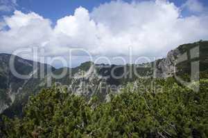 Ridge between Herzogstand and Heimgarten mountain in Bavaria, Ge
