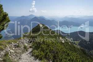 Summit cross at Herzogstand mountain in Bavaria, Germany