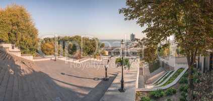 Odessa seaside boulevard in the autumn morning