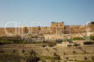 Golden gate to old Jerusalem city .