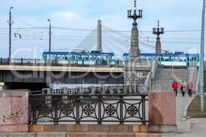 Stone bridge in Riga city.