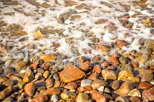 surf of the Balti sea on pebbles