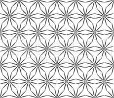 Abstact floral seamless pattern. Star shape texture. Oriental or
