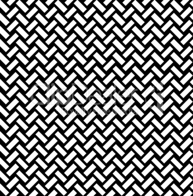 Abstact seamless pattern. Brick ornament. Diagonal line texture. Black and white textured architectural background.