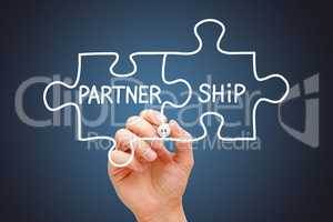 Partnership Jigsaw Puzzle Business Concept