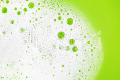 Soap foam on green