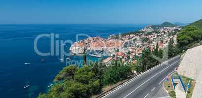 The way to Old Town of Dubrovnik in Croatia