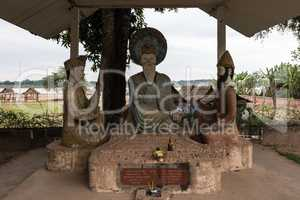 Buddha statues in the buddha park in Vientiane, Laos.