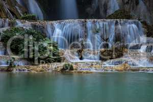 Tat Kuang Si waterfalls near Luang Prabang, Laos