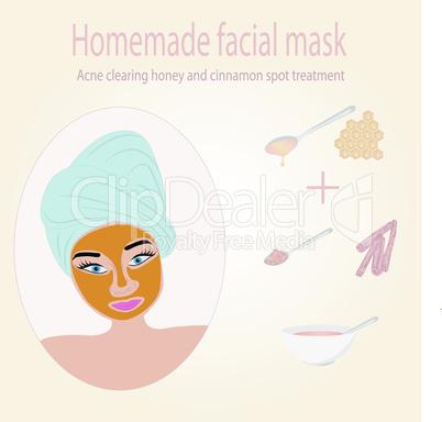 Facial mask for acne