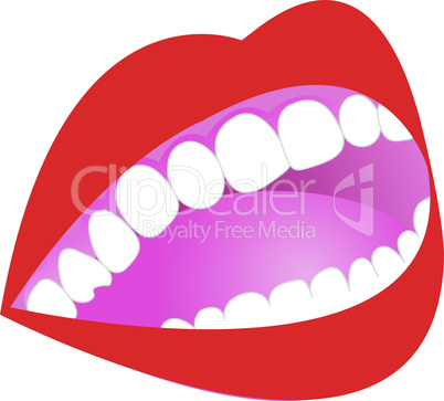 Gingivitis dental  cartoon illustration