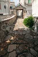 Street of Alberobello in Apulia, Italy